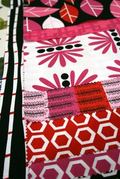 Bright Scandinavian quilting fabric