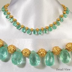 Hello Ladies, I bought some citrine , ruby and emerald drop beads. Pearl Necklace Designs, Jewelry Design Earrings, Gold Earrings Designs, Gold Jewellery Design, Bead Jewellery, Gold Necklace, Beaded Jewelry Designs, Drop Necklace, Motifs Animal