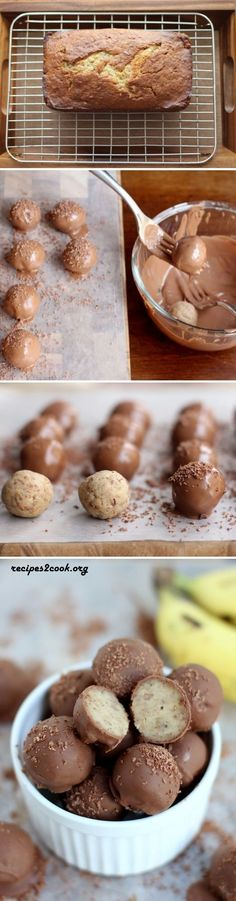 Chocolate Banana Bread Truffles