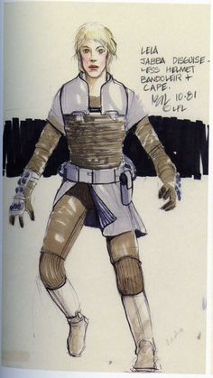 Boushh concept art by Nilo Rodis-Jamero, for Return of the Jedi Boushh of course was Leia, disguised as a bounty hunter at Jabba's court. D&d Star Wars, Star Wars Planets, Ralph Mcquarrie, Character Concept, Character Design, Joe Johnston, Jedi Costume, Star Wars Sequel Trilogy, 18th Century Clothing