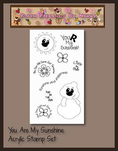 #stamp1 You R My Sunshine Acrylic Stamp Set by PaperPiecingsbyNikki.com for $8.00