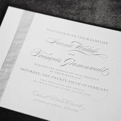 gray invitations