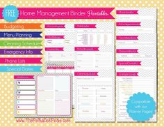 Free (Non-Editable) Planner Pages from Polka Dot Posie (link for the download is towards bottom of the page)