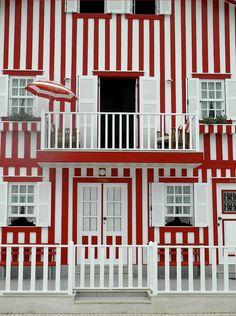 costa nova portugal stripes via Slim Paley