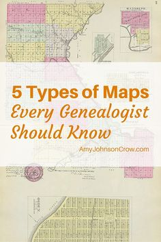 Maps can show more than just roads. Learn about 5 different types of maps that can help you with your genealogy research.