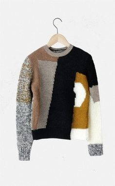 Image result for Carven パッチワークジャガードニット -site:sumally.com