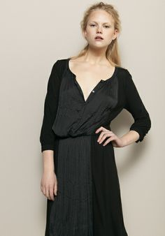 gorgeous tone-on-tone dress by Graham & Spencer