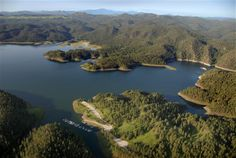 Pactola Lake in the Black Hills shines as a watery oasis in the midst of the Hills.