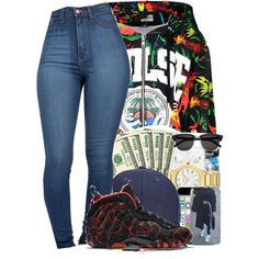 Untitled #420 by queen-dope on Polyvore featuring moda, Love Moschino and NIKE