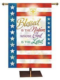 """Blessed is the Nation Whose God is the Lord"" is appropriate for Memorial Day, Independence Day, Veterans' Day and any day focused on our country and those serving our country. Exclusive design Oil ba"