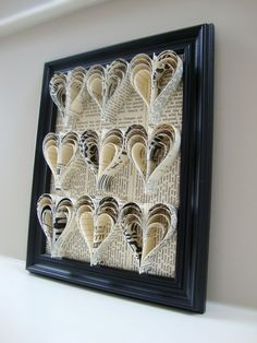 paper hearts (tutorial on this Board) - use scrapbooking papers and put in frame