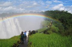 Victoria Falls (Technically on Zambian side) Adventure Tours, Adventure Travel, Victoria Falls, Niagara Falls, Africa, Country Roads, Journey, Explore, World
