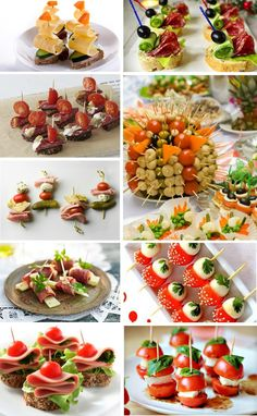 Skewer Appetizers Wedding Appetizers Appetisers Appetizer Recipes Dessert Recipes First Finger Foods Breakfast Crepes Fingerfood Food Design Party Snacks, Appetizers For Party, Appetizer Recipes, Keto Snacks, Party Food Platters, Good Food, Yummy Food, Food Garnishes, Food Decoration