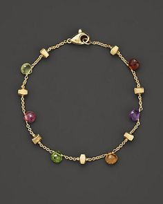 """oh yes... Marco Bicego """"Paradise Collection"""" 18 Kt. Yellow Gold Bracelet $835 (double strand is 1610)"""