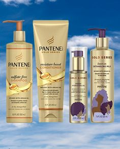 Pantene, Shampoo, Conditioner, Detangling Milk, and Hair Oil Treatment Kit, with Argan Oil, #goldblondehair #haircare #hairtreatment #haircolor #hairoil #hairtreatmentkiet #arganoil Gold Blonde Hair, Hair Oil, Argan Oil, Textured Hair, Haircolor, Hair Care, Shampoo, Curly, Milk