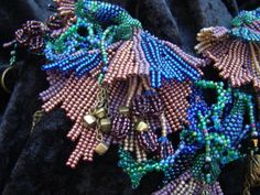 Desert Flowers seed bead necklace by familyonbikes on Etsy, $300.00
