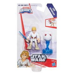 Young Jedi can ignite their imaginations with Star Wars Galactic Heroes figures. Sized right for smaller hands, these figures bring a galaxy far, far away right into their world. Featuring the heroic Luke Skywalker figure, young Star Wars fans can imagine leading the Rebels and the fight against the dark side. Twist the Luke Skywalker figure to strike the training remote and hone his Jedi skills! What mission will the Luke Skywalker figure have next? The adventure is up to them…
