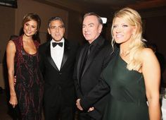 Mrs&Mr George Clooney and Mr Neil Diamond and Katie 2015