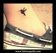 Ankle Hummingbird Tattoo 1 Ankle Hummingbird Tattoo