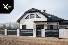 Modern Fence Design, House Gate Design, Garden Fence Panels, Front Gates, Aluminum Fence, Landscape Architecture Design, Building A House, Garden Design, New Homes