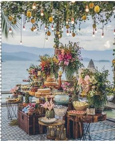 "I have been obsessed with the wedding designer in Renata Paraiso. More of her designs on my website under the Floral Empire"" Inspiration Board design board Perfection! Bohemian Wedding Flowers, Boho Wedding, Wedding Table, Rustic Wedding, Dream Wedding, Unique Wedding Food, Wedding Beach, Wedding Vintage, Trendy Wedding"
