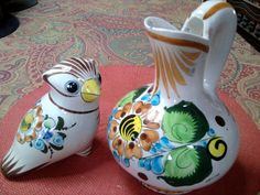 Vintage Mexican Owl and Pitcher  Tonala  by TradewindsFolkArt, $24.00