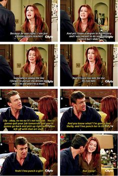 Marshall & Lily. how i met your mother #himym