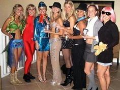 Stages of Britney Spears group costumes! Style DIY costumes with this super fun, easy tool (WiShi). It's a styling website where you style people's real clothing in their virtual closets. #Fashion #Style #Costume #Halloween #DIY Connect via Facebook for free in seconds. ♥