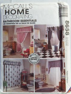McCallu0027s 8658 Bathroom Essentials. Modern Sewing PatternsMccalls ...
