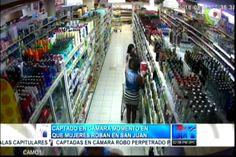 Captado en cámara momento en que 6 mujeres roban en un super mercado en San Juan
