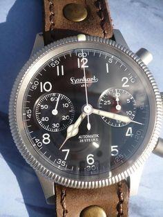 Hanhart Luftwaffe Pilot Fliegerchronograph #hanhart German Swiss Watchmakers #horlogerie #chrono @calibrelondon