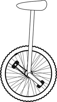Unicycle Line Art by gammillian