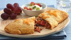 Black beans and barbeque chicken are folded into a flaky crescent crust in these tasty hot sandwiches.