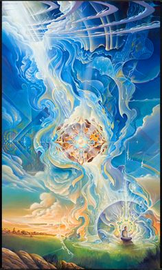 """Visionary art by Michael Divine. """"Passionate and serene at once, Michael Divine's images speak with a universal language of beauty that anyone can understand and relate to. Drawing upon his visions and experiences, his work explores the inner worlds of the psyche and the heart. He translates this experience into breathtakingly sublime imagery that illustrates the journey of growth and transcendence through the inescapable phenomenon of human existence and conditioning."""""""