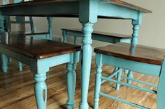 teal table for our kitchen?...just need to convince my husband now that I need some paint