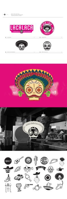 LACALACA - TAQUERÍA MEXICANA by Ricardo Deleón, via Behance