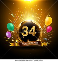 Find 6 Years Golden Anniversary Logo Celebration stock images in HD and millions of other royalty-free stock photos, illustrations and vectors in the Shutterstock collection. Birthday Wishes For Aunt, Birthday Surprise Kids, Birthday Love, Birthday Crafts, Birthday Recipes, Gold Birthday, 50th Anniversary Decorations, Birthday Table Decorations, 4 Year Anniversary