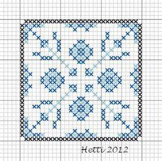 Creative Workshops from Hetti: SAL Delfts Blauwe Tegels, Update - SAL Delft Blue Tiles, Update. Biscornu Cross Stitch, Cross Stitch Embroidery, Cross Stitch Patterns, Delft, Stitch Crochet, Plastic Canvas Coasters, Cross Stitch Boards, Creative Workshop, Blue Tiles