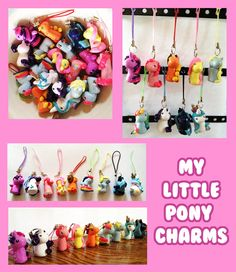 #MLP #phonecharms of all your favorite #MyLittlePony ponies! Check out my Etsy to purchase!