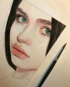 Reina Yamada is an artist who works actively in Japan and is the author of many works of watercolor art. The re-adaptation of watercolor paint. Pencil Portrait, Portrait Art, Abstract Portrait, Portrait Ideas, Watercolor Portraits, Watercolor Paintings, Painting Abstract, Watercolor Drawing, Watercolor Portrait Tutorial