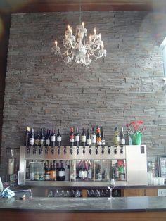 Taps, a Tampa restaurant bar Tampa Restaurants, Great Restaurants, Restaurant Ideas, Restaurant Design, Bar Ideas, Decor Ideas, Bar Tops, Bar Stuff, Wine Display