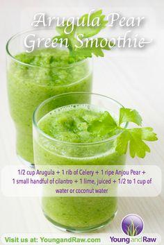 Arugula Pear Green Smoothie