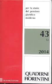 Quaderni fiorentini per la storia del pensiero giuridico moderno