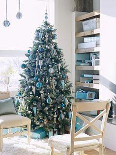 Blue Christmas Decor Inspiration
