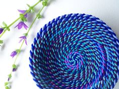 Hey, I found this really awesome Etsy listing at https://www.etsy.com/listing/230376569/4-inch-ring-dish-purple-and-blue-polymer