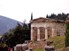 The Temple of Apollo at Delphi in Greece, April 2007