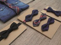 DAPPER! just for the little guys for the occasion, set of bowties that magnetically go in place.