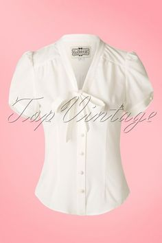 Collectif Clothing Tura Plane Blouse Ivory 112 50 14845 05022015 11W