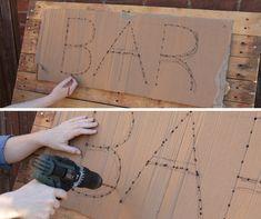 DIY Outside Pallet Bar - The Useful Mano, DIY Outside Pallet Bar - The Useful Mano room decor it your self diy. Diy Pallet Sofa, Diy Pallet Furniture, Diy Pallet Projects, Pallet Ideas, Diy Pallet Bar, Pallet Benches, Pallet Tables, Pallet Crafts, Pallet Art