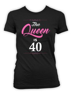 40th Birthday T-Shirt - Great Birthday Gift for any 40 Year Old! >> IF YOUD LIKE TO CUSTOMIZE THE AGE, PLEASE LEAVE A NOTE AT CHECKOUT